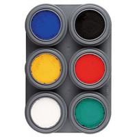 Paleta de 6 colores de Maquillaje al Agua A6